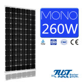 Панель солнечных батарей высокого качества 260W Mono с аттестацией Ce, CQC и TUV для проекта солнечной силы