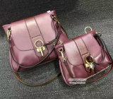 최신 판매 최신 Deisgn 여성 핸드백 100% 실제적인 가죽 2개 크기 여자 어깨에 매는 가방 Emg4963