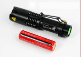 900 Lumens Luminosité CREE T6 LED Mini Zoom Flash Light
