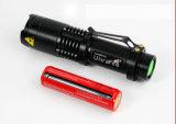 900 luz del flash del zoom del CREE T6 LED del brillo de los lúmenes mini