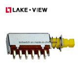 ロックが付いている押しボタンスイッチおよびロック解除されたタイプおよび多くのノブオプション
