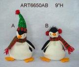"""5.5 """" орнамента пингвина украшения рождества h, 3 Asst"""