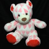 2017 Nouveau Blanc Rose Heartsplush animal en peluche Teddy