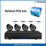 Cámaras de seguridad impermeables del IP de la vigilancia 2MP Poe del CCTV