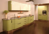 Armário de cozinha clássico Mobiliário de cozinha de alto brilho