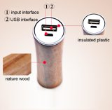 La Banca di legno genuina di potere di stile 2600mAh per il caricabatteria di iPhone