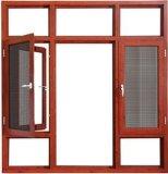 Doppeltes glasig-glänzendes äußere Öffnungs-Aluminiumflügelfenster-Fenster mit ausgeglichenem Glas