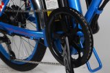 O viajante de bilhete mensal claro do chifre ajudou à dobradura da bicicleta de E