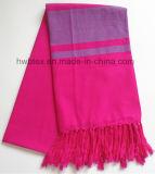 Полотенце Hammam промотирования вплетенное цветом (HWBC-001)