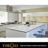 A noz folheou gabinetes de cozinha com projeto elevado Tivo-0166h da pintura do lustro