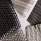Maglia di obbligazione dell'acciaio inossidabile del grado del nero 316/schermo finestra di obbligazione