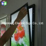 Frame de alumínio com perfil de alumínio para o material de anúncio