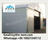 Tienda grande de almacenamiento utilizado para el almacenamiento de la motocicleta con la puerta de cristal y Sandwich del panel de pared