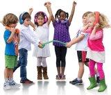 Фиолетовый Limited-Volume проводные наушники для детей с мягкими подушками и съемные Size-Adjuster безопасные для детей (OG-K100)