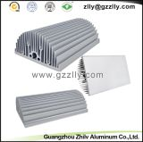 Disipador de calor Shaped de la protuberancia del peine de aluminio