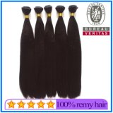 一等級の18インチの黒カラー加工されていないバージンのRemyのインドの人間の毛髪