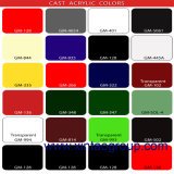 Acrílico / Plexiglás / Plexiglás Hoja 5mm Negro Blanco Rojo Tamaño y color