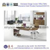 イタリアデザイン革事務机の現代オフィス用家具(L3601#)