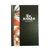 Impression de menu de restaurant personnalisée par couverture de cuir d'unité centrale de fabrication de la Chine