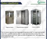 Acquazzone di aria dell'angolo della stanza pulita dell'acciaio inossidabile del Singel-Lato della Singel-Persona