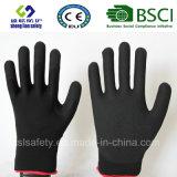 Покрытие нитрила, перчатки работы безопасности отделки Sandy (SL-NS113)