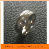 Fashion Jewelry女性ステンレス鋼のダイヤモンド指輪(CZR2521)