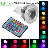 3W RGB LEDの点はE27 GU10をつける