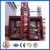 Élévateur de construction de construction de Double-Cage de Sc200/200-2ton avec la vitesse