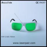 Alta densidad óptica de los vidrios rojos 635nm, 650nm, 694nm (RHP-2 600-700nm) de la protección de ojo de los anteojos de seguridad de laser con el marco 36