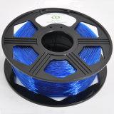 Пластичный цвет сини нити принтера 3D штанги 3mm гибкий