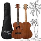 Mahagonikarosserie 26 Zoll-Beschaffenheit-Delphin Ukelele Gitarre akustisch