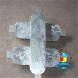 Vierecks-Typ Zink-Anode, die Gerät für Meerwasser-Kühlsystem ausstattet