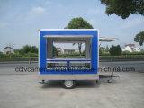 Tre carrelli mobili esterni aperti degli alimenti a rapida preparazione della finestra di lati mini (SHJ-MFS250)