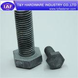 L'acier au carbone galvanisé à chaud 6914 DIN DIN931 Heavy boulon à tête hexagonale