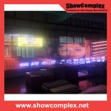 Visualización video transparente a todo color al aire libre del LED para hacer publicidad (pH23)