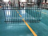Frontière de sécurité en acier de jardin galvanisée par noir de qualité
