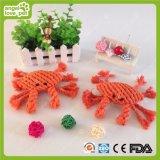 A mastigação do cão de brinquedos do caranguejo do algodão brinca o produto do animal de estimação do Eco-Amigo