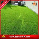 Giardino che modific il terrenoare la moquette sintetica dell'erba