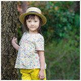 Venda por atacado de roupas de criança para crianças com tecido de algodão