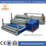 Máquina de corte vertical econômica com rebobinador duplo