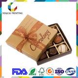 Rectángulo de empaquetado del chocolate de lujo con el embutido de la red