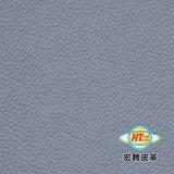 Cuero de grano del lichí respetuoso del medio ambiente en condiciones de servidumbre de la PU para el sofá (HS026 #)