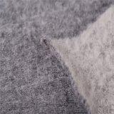 Tessuto cotone/delle lane per il cappotto di inverno in due lati grigi