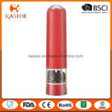 Moinho de pimenta plástico de sal da bateria da cor cromática com função clara
