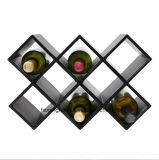 El nuevo diseño único de Luxy 8 estantes de vino del cuero de las botellas se coloca