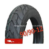 China-schlauchlose Motorrad-Gummireifen-Reifen-Fertigung 90/90-17 90/90-12