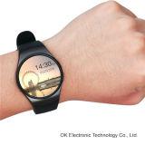 2016 Kw18 Smartwatch IPS Écran rond Écran de fréquence cardiaque Bluetooth Anti-Lost Support Carte SIM Android et Ios Phone Smart Watch