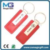 Qualität kundenspezifisches ledernes Metall Keychain mit Doppelschlüsselring