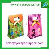 Venta de souvenirs personalizados caliente atado con nudo mariposa bolsa de papel