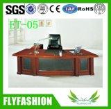 Escritorio de lujo del ejecutivo del encargado del vector de la protuberancia de los muebles de oficinas de madera sólida de la alta calidad Et-03
